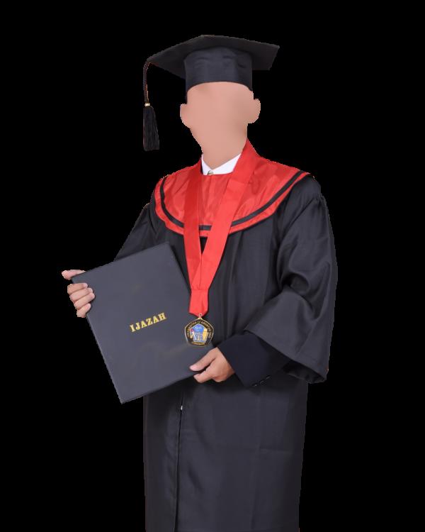 jubah toga pakaian wisuda diploma lengkap - toga d3